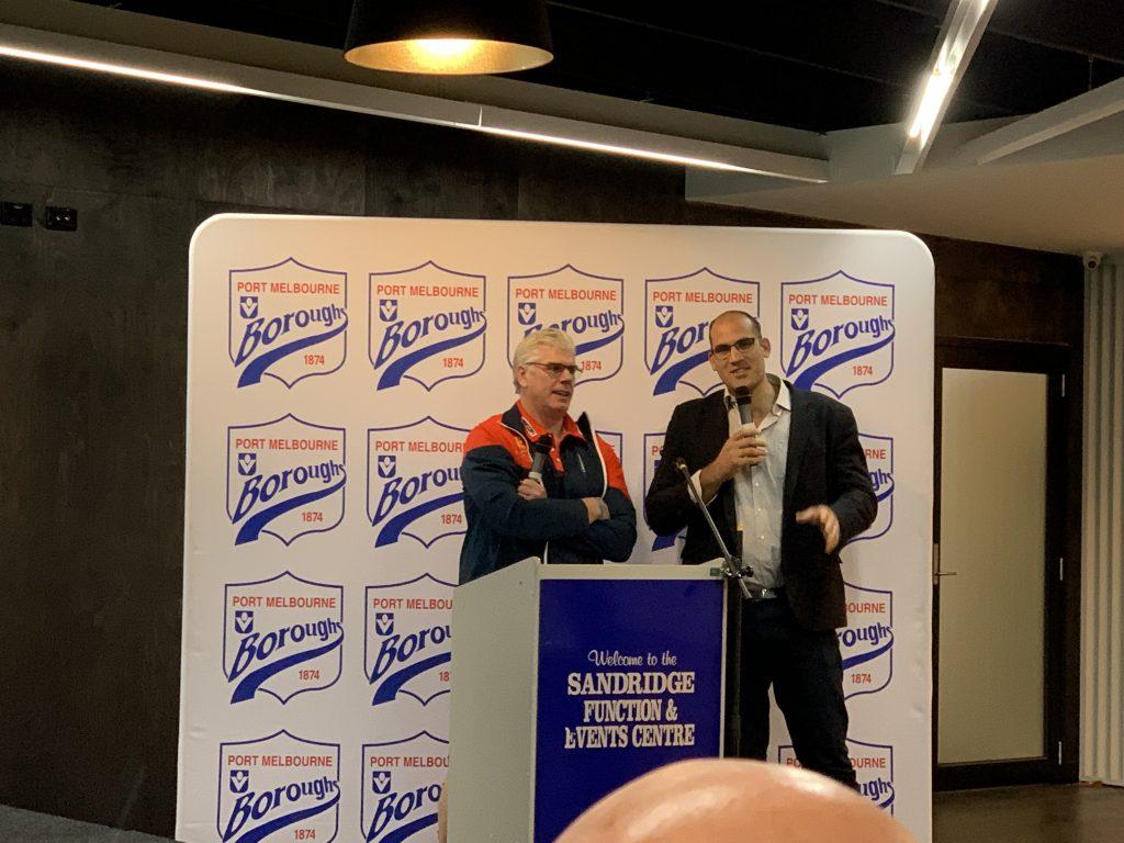 Gary Ayres Port Melbourne Boroughs Coach 2019 Laundry Box Platinum Sponsorship