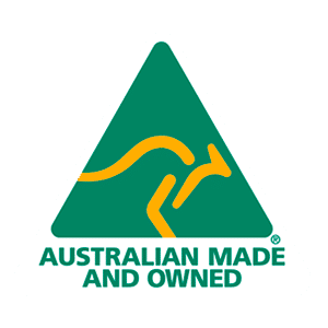 Australian made and owned badge icon