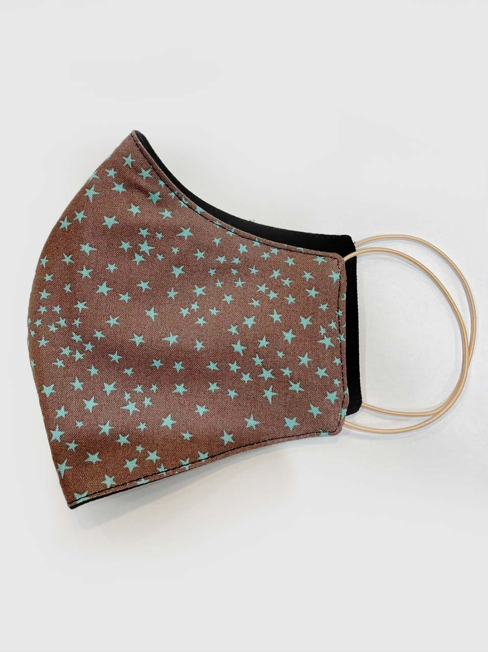 Designer reusable face mask with star pattern