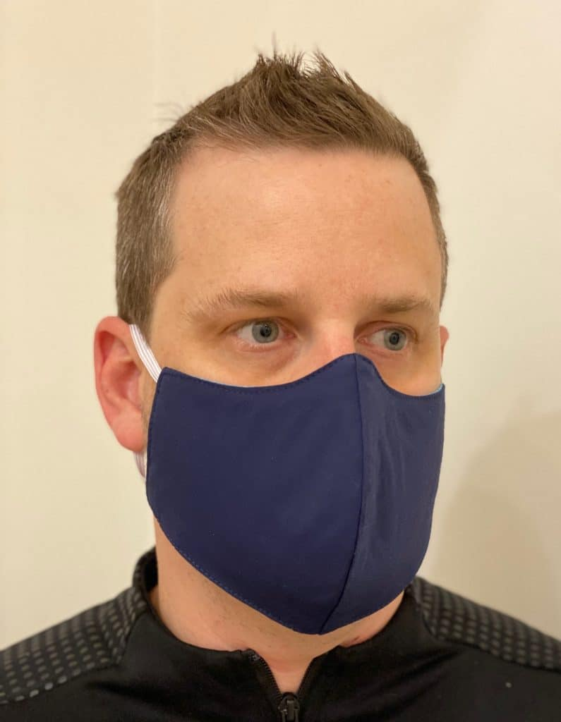 Men's Navy Reusable Face Mask
