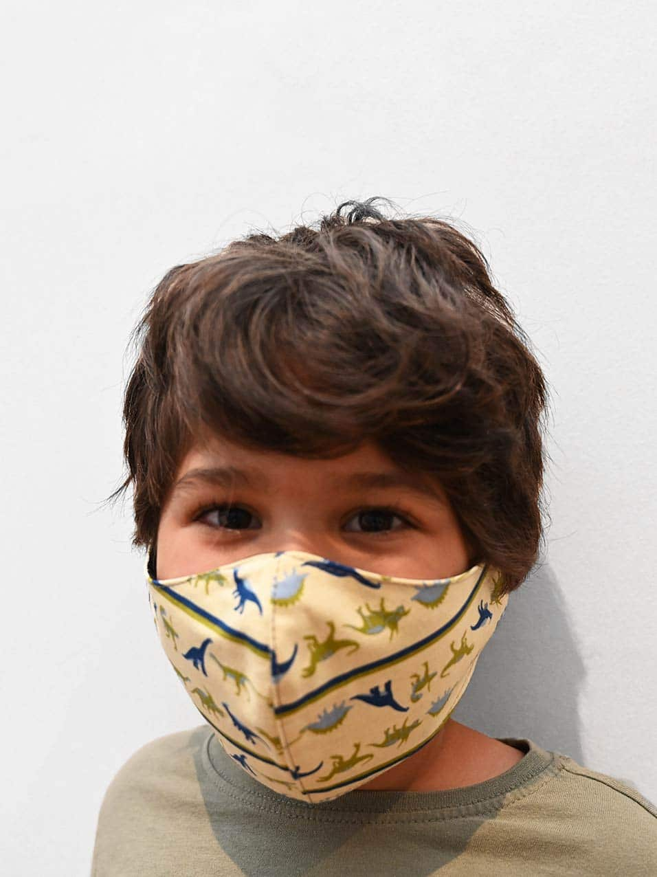 Kids mask with dinosaur pattern (reusable) made to DHHS guidelines in Australia