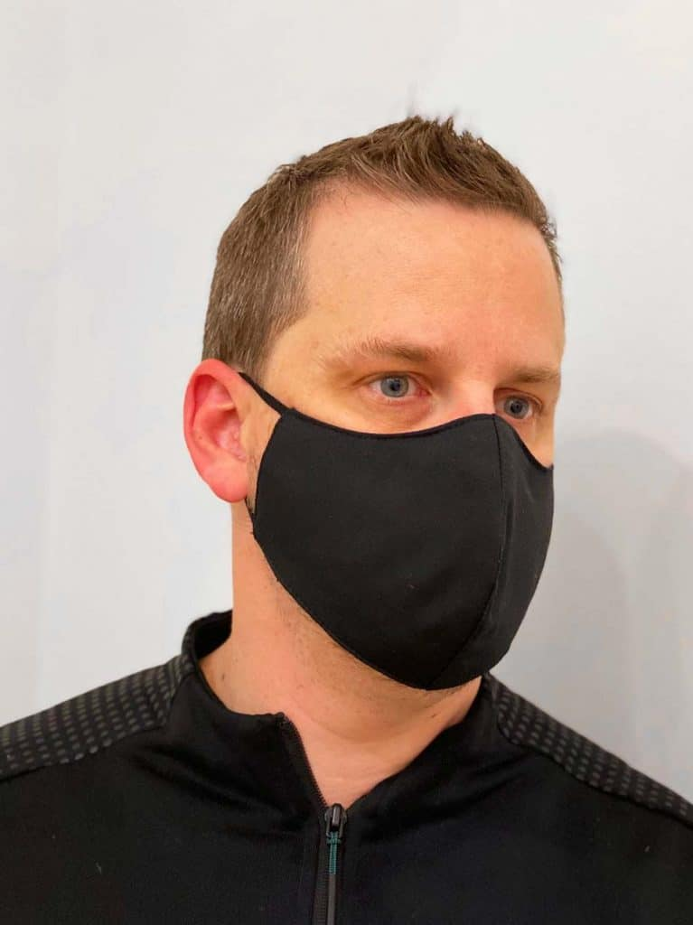 Men's Black Reusable Face Mask