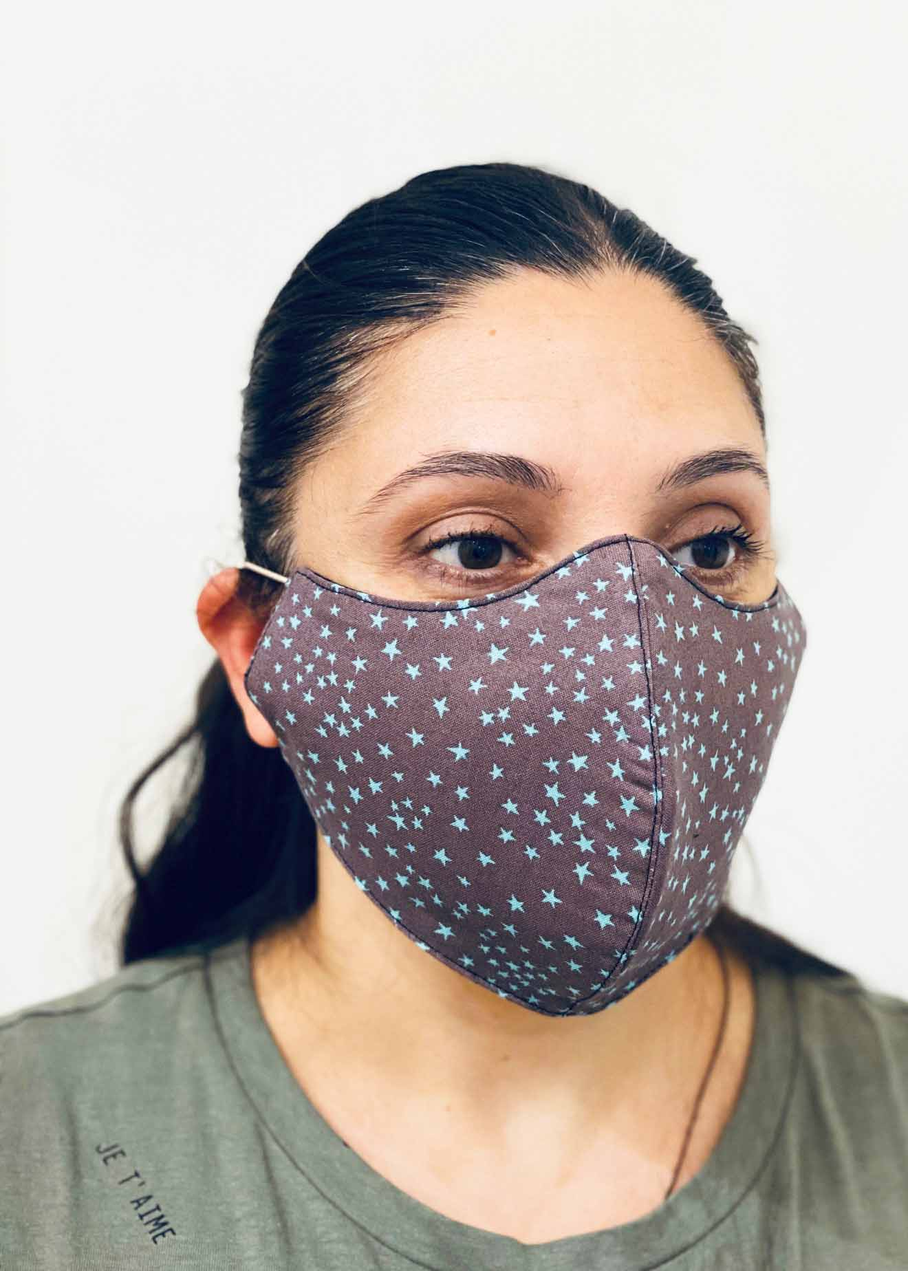 Ladies DHHS Leopard Star Pattern Face Mask by Laundry Box Melbourne