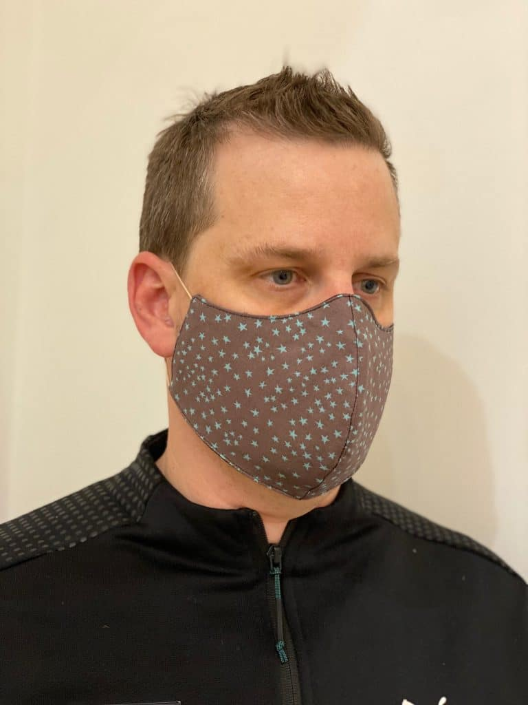 Men's Star Pattern Reusable Face Mask