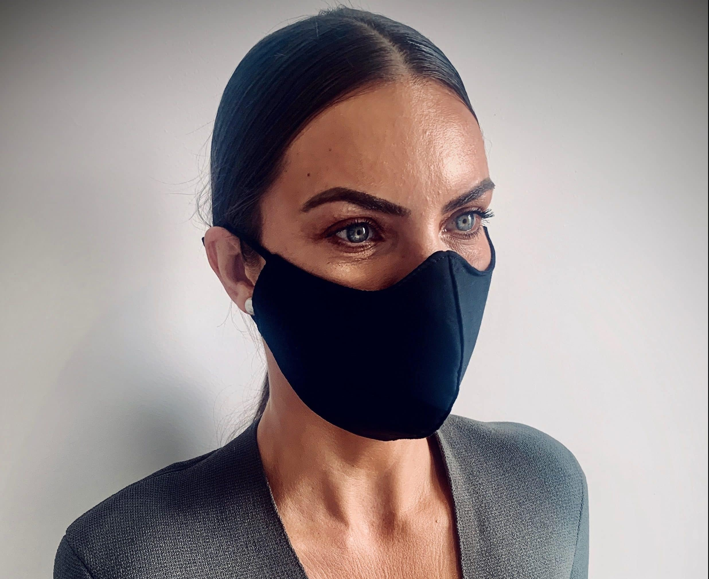 Black Womens reusable face mask