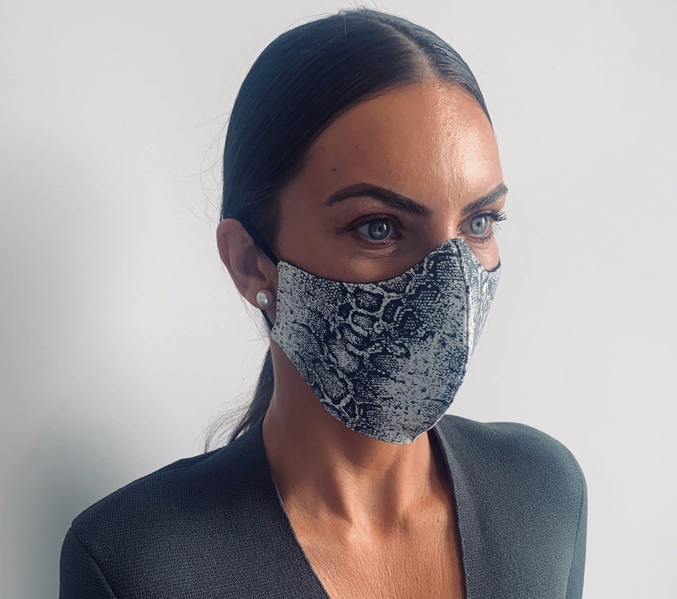 Snake Skin womens reusable face masks